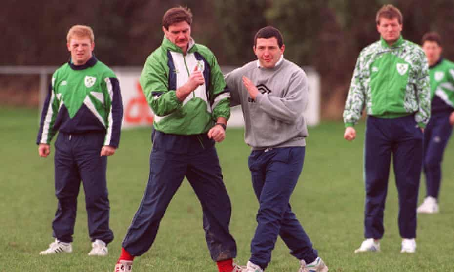 Willie Anderson in training with Ireland in 1993.