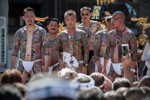 Heavily tattooed Japanese men