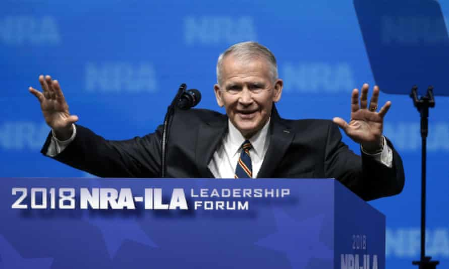Oliver North at the NRA summit on Friday.