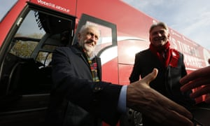 Jeremy Corbyn and Richard Leonard on the campaign trail in Scotland