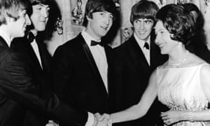 Princess Margaret meets the Beatles in 1964.