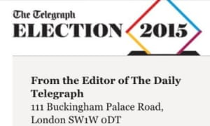 The Telegraph has been fined £30,000 over an email sent on general election day urging readers to vote Conservative