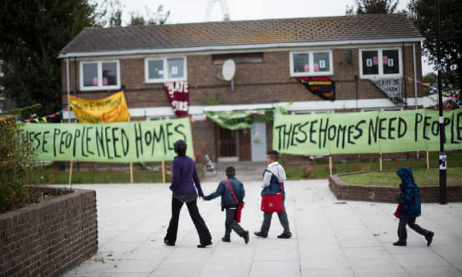 The Focus E15 campaign protesting the gentrification of Newham.