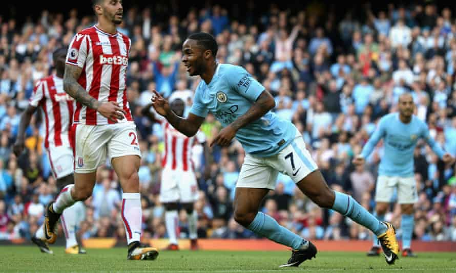 Raheem Sterling has had a fine start to the season at free-scoring Manchester City.