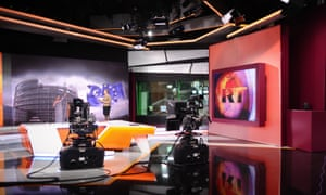 Russia Today's (RT) television studio.