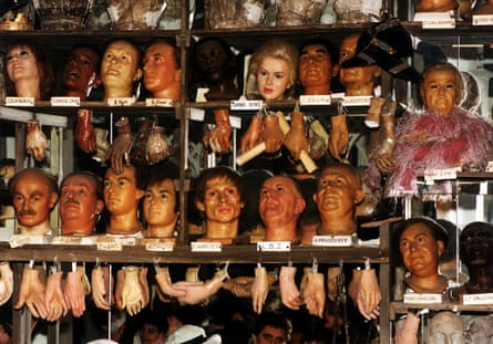 Storage at Madame Tussaud's in London.
