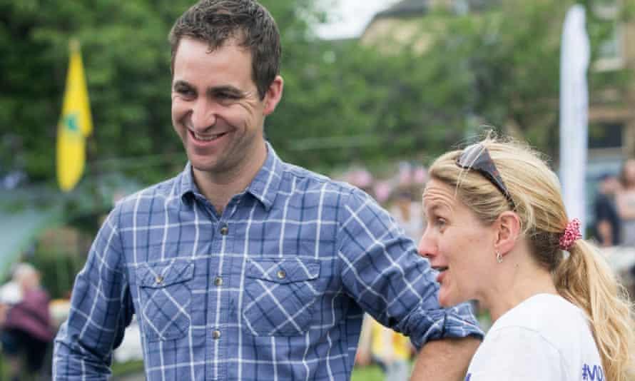 Brendan Cox and Jo Cox's sister Kim Leadbeater