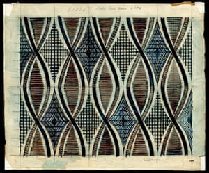 Sketch for the moquette design Shield, by Enid Marx, 1946
