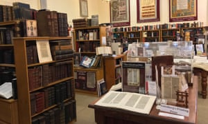 Books and bibles on display at St Arnaud's Bible Museum, Australia.