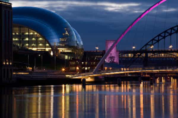 The Sage Gateshead, by the River Tyne.