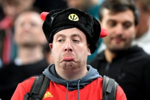 A disappointed Belgium fan.