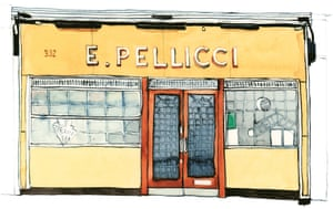 The E Pellicci cafe in Bethnal Green