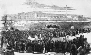 The Great Chartist Meeting held on Kennington Common in preparation for a march on the House of Commons in support of the People's Charter' calling for electoral and social reform.. April 1848.