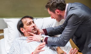 Lawrentian struggle … Alistair McGowan as Michael and Daniel Weyman as Paul in 4000 Days at the Park theatre, London.