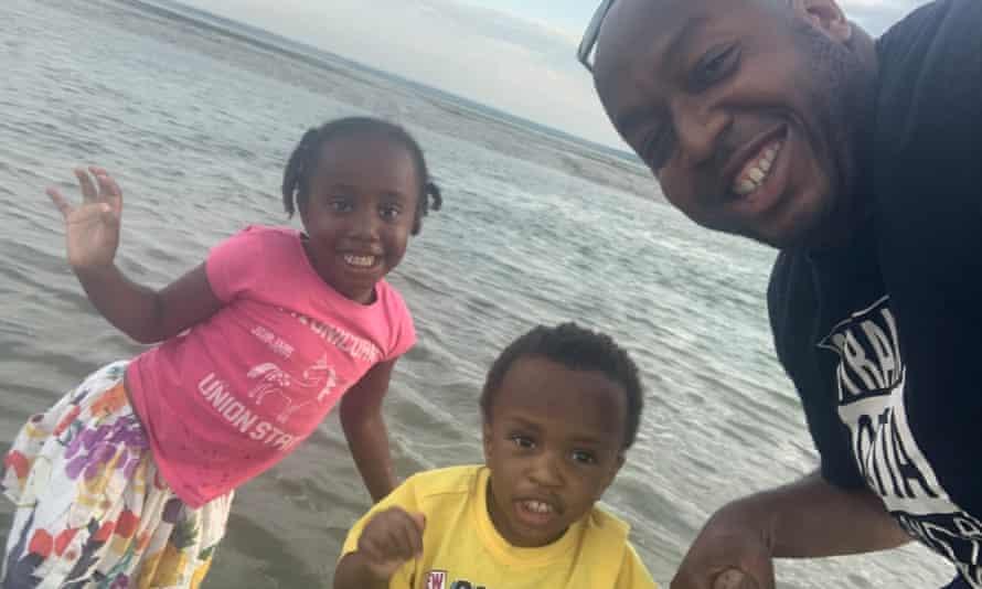 Umar Kankiya with his children.