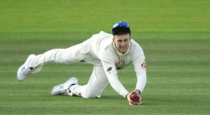 Root dives to catch Labuschagne.