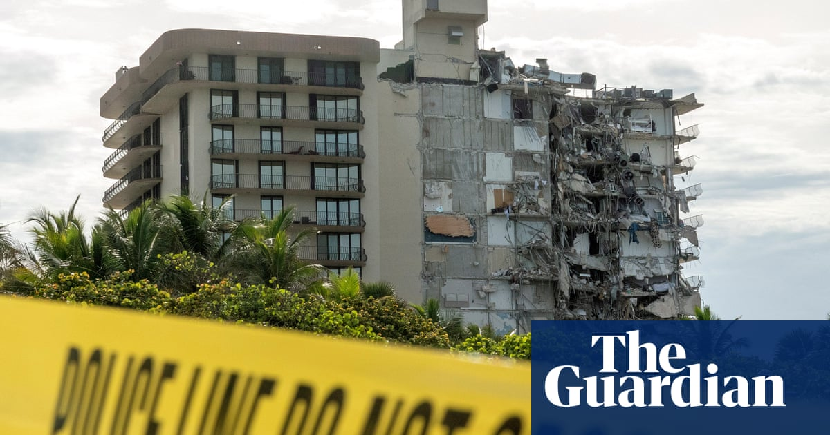 Miami building collapse: rescue operation under way – in pictures