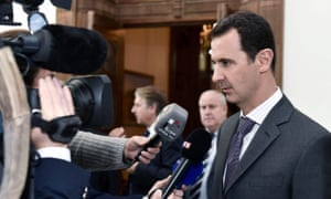 Syrian President met with French delegation in Damascus on Saturday.