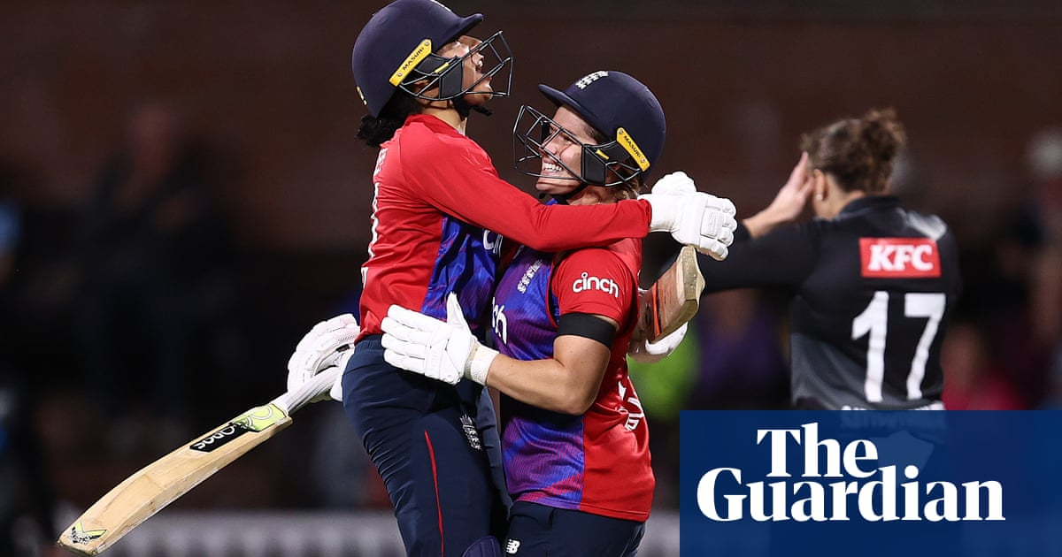 Sophia Dunkley holds nerve to give England tense victory over New Zealand