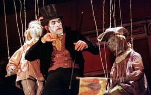 Julian Bleach in Shockheaded Peter at the Lyric theatre, Hammersmith, in 2001.