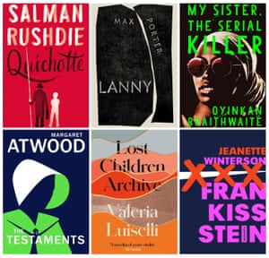 Six of the 13 books on the 2019 Booker longlist.