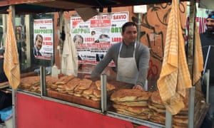 Pizza cart in Palermo