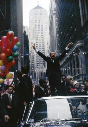 Nixon on La Salle Street, Chicago, during the 1968 Presidential Campaign