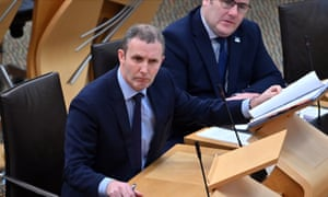 The Scottish transport secretary, Michael Matheson, answers questions on rail services in the Scottish parliament
