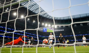 Donny van de Beek sidefoots his finish past Hugo Lloris to give Ajax a precious away goal at Tottenham.