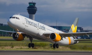 A Thomas Cook Airbus A330 takes off at Manchester airport