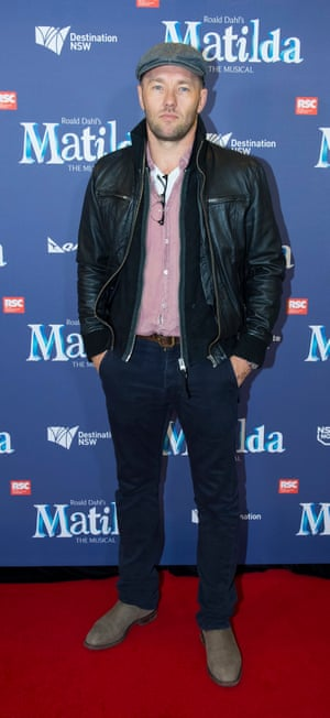 Joel Edgerton at the Sydney premiere of Matilda the Musical, Lyric theatre, 20 August 2015.