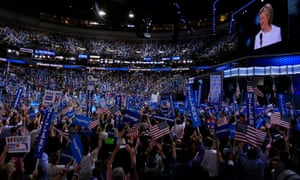 Hillary Clinton on the final day of the Democratic National Convention in Philadelphia.