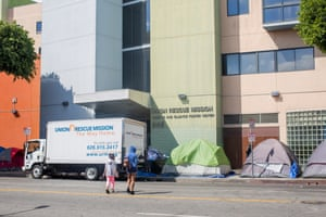 The Union Rescue Mission, one of the main Skid Row shelters, as it preps for coronavirus.