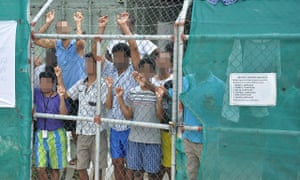 Asylum seekers on Manus Island in 2014