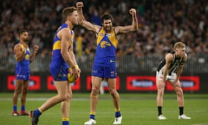 West Coast players celebrate at full-time