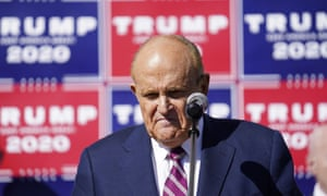 Rudy Giuliani in Philadelphia on the Saturday after the election.