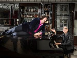 Jeff Goldblum and Jay Rayner