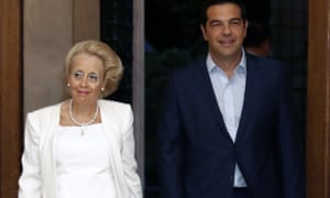 Vassiliki Thanou with Alexis Tsipras