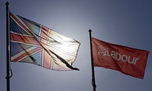 A Labour and Union flag