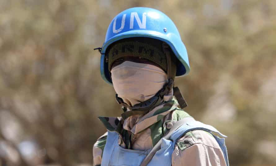 A member of the UN-African Union mission in Darfur.