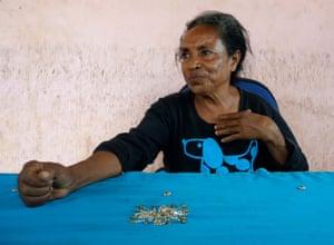 Former resistance fighter Madalena Vidal Soares, at her home outside Dili