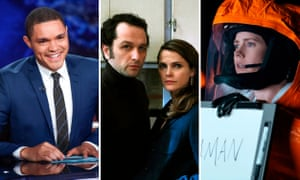 Trevor Noah on The Daily Show, Matthew Rhys and Keri Russell in The Americans, and Amy Adams in Arrival