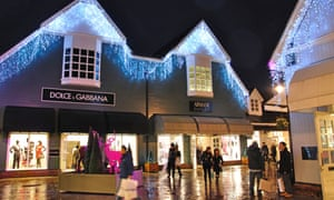 Shoppers at Bicester Village shopping centre in Oxfordshire