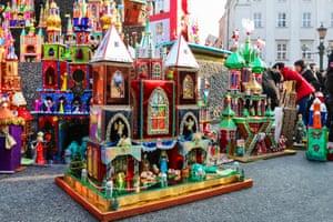 Nativity scene on display in Krakow.