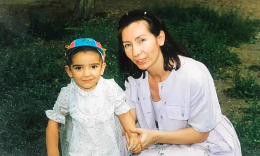 Lana Estemirova with her mother, Natalya.