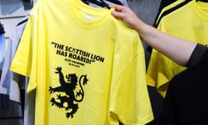 A t-shirt on sale at the SNP conference.