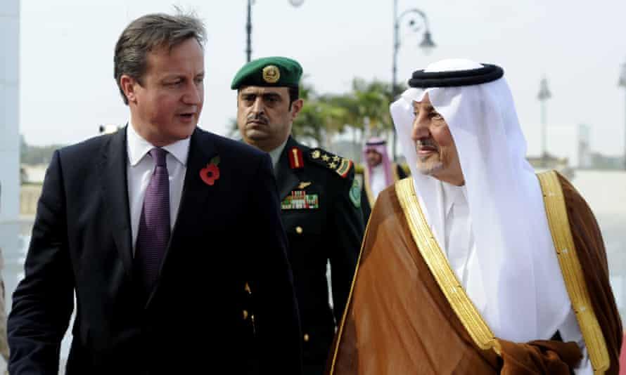 Saudi prince and David Cameron
