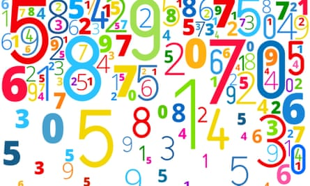 Numbers on a white background