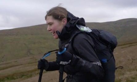 Jasmin Paris on Shunner Fell, north Yorkshire, during the 2019 Montane Spine Race.