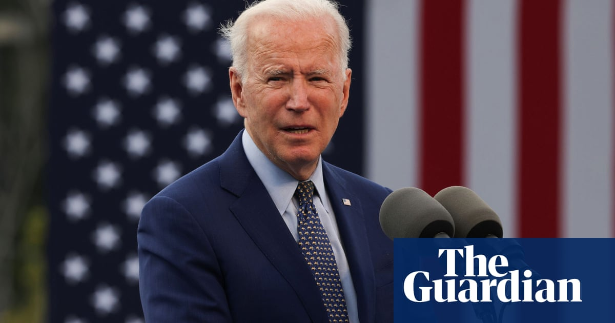 Joe Biden's 100 days in office interrupted by protesters – video